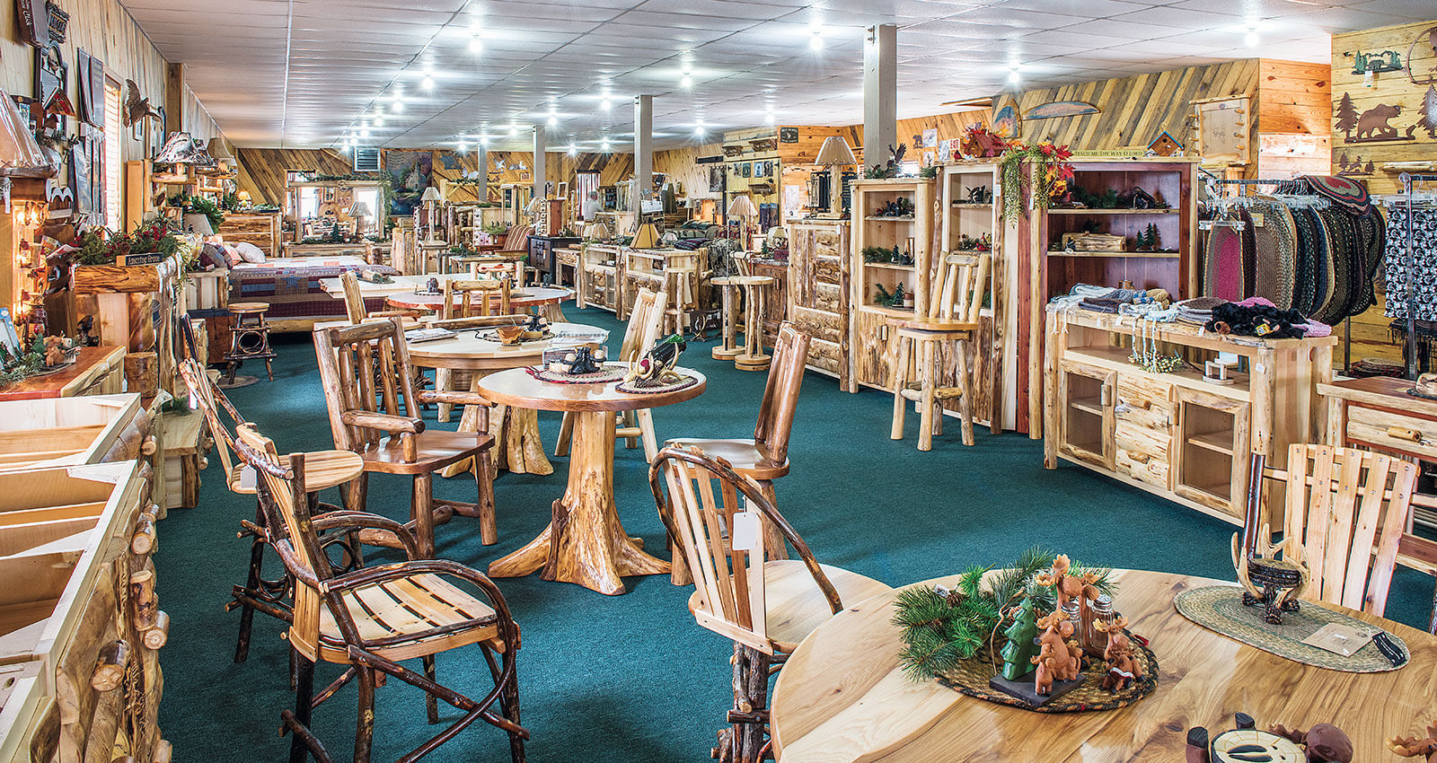 Dutchman Log Furniture Retail Store Showroom