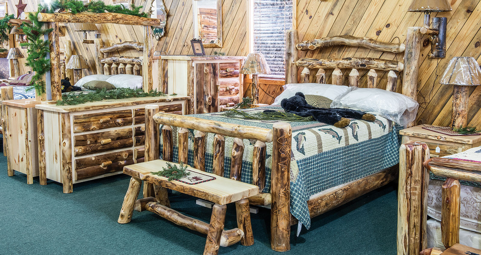Dutchman Log Furniture Rustic Bedroom Collection